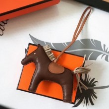 High Quality Hermes Rodeo Horse Charm In Cafe/Camarel/Grey Leather Bag RS109216