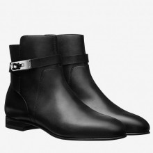 Hermes Black Neo Ankle Boots Women's Shoes RS204218