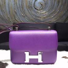 Designer Replica Hermes Constance 23cm Epsom Calfskin Original Leather Handstitched Palladium Hardware, Crocus 9W RS06472