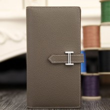 Hermes Bearn Gusset Wallet In Etoupe Epsom Leather RS16599
