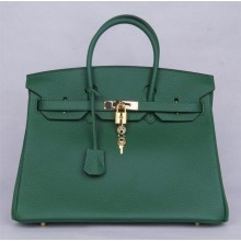 Hermes Birkin 35cm Veau Crispe Togo Calfskin Bag Handstitched, Canopee V6 RS10056