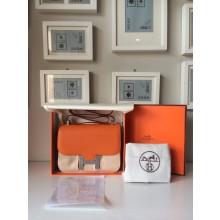 Hermes Constance 17cm Togo Calfskin Original Leather Hand Stitched R Stamp, Orange RS15944