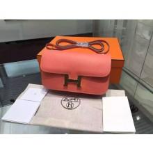 Hermes Constance Elan 23cm Epsom Calfskin Original Leather Hand Stitched Gold Hardware, Crevette L5 RS18574