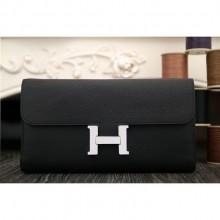 Hermes Constance Wallet In Black Epsom Leather RS06095