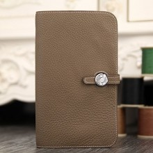 Hermes Dogon Combine Wallet In Etoupe Leather RS01305
