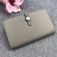 Hermes Dogon Combine Wallet In White Leather RS00751