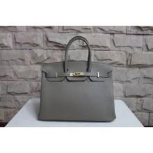 Hermes Horseshoe Birkin 40cm Veau Crispe Togo Calfskin Bag Hand Stitched, Chocolat CK47/Rose Tyrien E5 RS12670