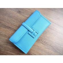 Hermes Jige Elan Clutch 29cm Epsom Calfskin Handstitched, Blue Paradies 2T RS13975