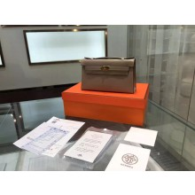 Hermes Kelly 22cm Epsom Leather Gold Hardware High Quality, Gris Tourterelle CK81 RS13154