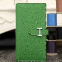 High Imitation Hermes Bearn Gusset Wallet In Bamboo Epsom Leather RS01154