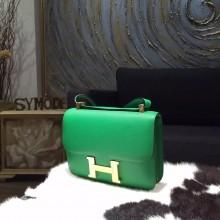 High Quality Hermes Constance 23cm Epsom Calfskin Original Leather Handstitched Gold Hardware, Bambou 1K RS09108