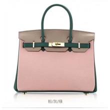 High Quality Replica Hermes Horseshoe Birkin 30cm Epsom Calfskin Bag Handstitched, Rose Tyrien E5/Pink 5P RS16986