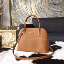 Replica Hermes Bolide 27cm Epsom Calfskin Leather Bag Palladium Hardware Handstitched, Gold CK37 RS07831