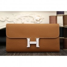 Replica Hermes Constance Wallet In Brown Epsom Leather RS15086