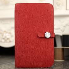 Replica Hermes Dogon Combine Wallet In Red Leather RS02336