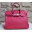 Hermes Birkin 30cm Epsom Calfskin Bag Handstitched Palladium Hardware, Flamingo I5 RS09991