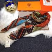 Hermes Silk Scarf Orange RS19529