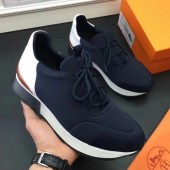 Luxury High Quality Replica Hermes Men Black Player Sneakers Shoes RS203217