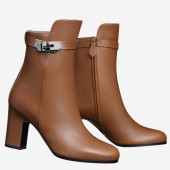 Hermes Brown Joueuse Ankle Boots Women's Shoes RS204219