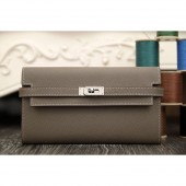 Best Hermes Kelly Longue Wallet In Etoupe Epsom Leather RS15775
