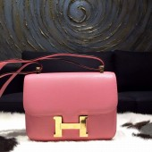 Fake Cheap Hermes Constance 24cm Epsom Calfskin Original Leather Hand Stitched Gold Hardware, Rose Confetti 1Q RS05773