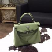 Fake Hermes Kelly 25cm Togo Calfskin Bag Handstitched Palladium Hardware, Canopee V6 RS02554