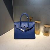Hermes Autruche Ostrich Birkin 30cm Bag Handstitched Gold Hardware, Noir RS13991