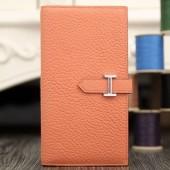 Hermes Bearn Gusset Wallet In Crevettle Leather RS01517
