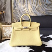 Hermes Birkin 25cm/30cm Togo Calfskin Bag Handstitched Palladium Hardware, Jaune Poussin 1Z RS03991