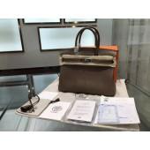 Hermes Birkin 30cm Epsom Leather Palladium Hardware High Quality, Etoupe RS01924
