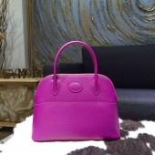 Hermes Bolide 27cm Epsom Calfskin Leather Bag Palladium Hardware Handstitched, Anemone P9 RS02293