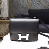 Hermes Constance 18cm Box Calfskin Palladium Hardware Handstitched, Noir RS08710