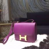 Hermes Constance 18cm Epsom Calfskin Original Leather Handstitched Gold Hardware, Anemone P9 RS06606