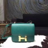 Hermes Constance 18cm Epsom Calfskin Original Leather Handstitched Gold Hardware, Malachite Z6 RS00441