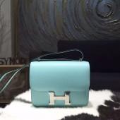 Hermes Constance 18cm Epsom Calfskin Original Leather Handstitched Palladium Hardware, Blue Atoll 3P RS05096