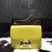 Hermes Constance 23cm Epsom Calfskin Original Leather Handstitched Palladium Hardware, Soufre C9 RS01303