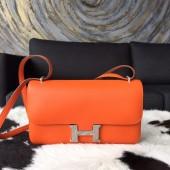 Hermes Constance Elan 23cm Swift Calfskin Handstitched Palladium Hardware, Orange CC93 RS15088