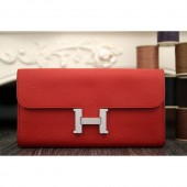 Hermes Constance Wallet In Red Epsom Leather RS17663