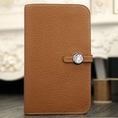 Hermes Dogon Combine Wallet In Brown Leather RS11430