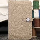 Hermes Dogon Combine Wallet In Grey Leather RS01977