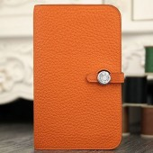 Hermes Dogon Combine Wallet In Orange Leather RS21640