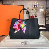 Hermes Garden Party 30cm Togo Calfskin Leather Palladium Hardware High Quality, Black RS12003