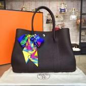 Hermes Garden Party 36cm Togo Calfskin Leather Palladium Hardware High Quality, Chocolate RS14447