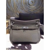 Hermes Jypsiere 28cm Gypsy Bag Elephant Gray 6C Togo Palladium RS01182