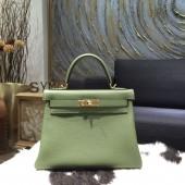 Hermes Kelly 28cm/32cm Togo Calfskin Original Leather Bag Handstitched Gold Hardware, Canopee CKV6 RS18787