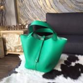 Replica Fashion Hermes Picotin Lock 18cm/22cm Taurillon Clemence Calfskin Bag Handstitched Palladium Hardware, Menthe 6W RS09569
