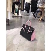 Replica Hermes Horseshoe Birkin 30cm Togo Calfskin Bag Handstitched Palladium Hardware, Pink 5P/Graphite RS04694