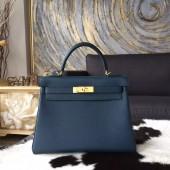 Replica Hermes Kelly 28cm Togo Calfskin Bag Palladium Hardware Handstitched, Colvert 1P RS02300
