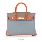 Top Hermes Horseshoe Birkin 30cm Epsom Calfskin Bag Handstitched, Mango 9Z/Rose Tyrien E5/Crocus 9W RS00333
